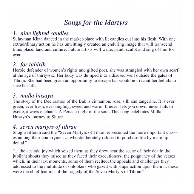 Songs For The Martyrs By Grant Hindin Miller
