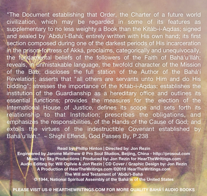 The Will and Testament of 'Abdu'l-Baha - Click Image to Close